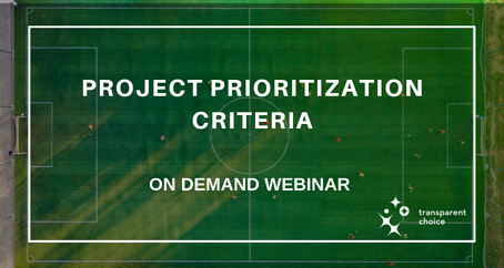 Project prioritization criteria 2